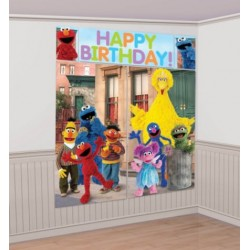 Sesame Street Scene Setter Wall Decorating Set (new style)