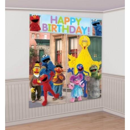 Sesame Street Scene Setter Wall Decorating Set (new style)