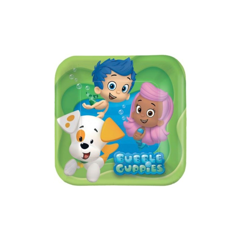 Bubble Guppies 7 Quot Cake Plates 8 Pack Partyland New