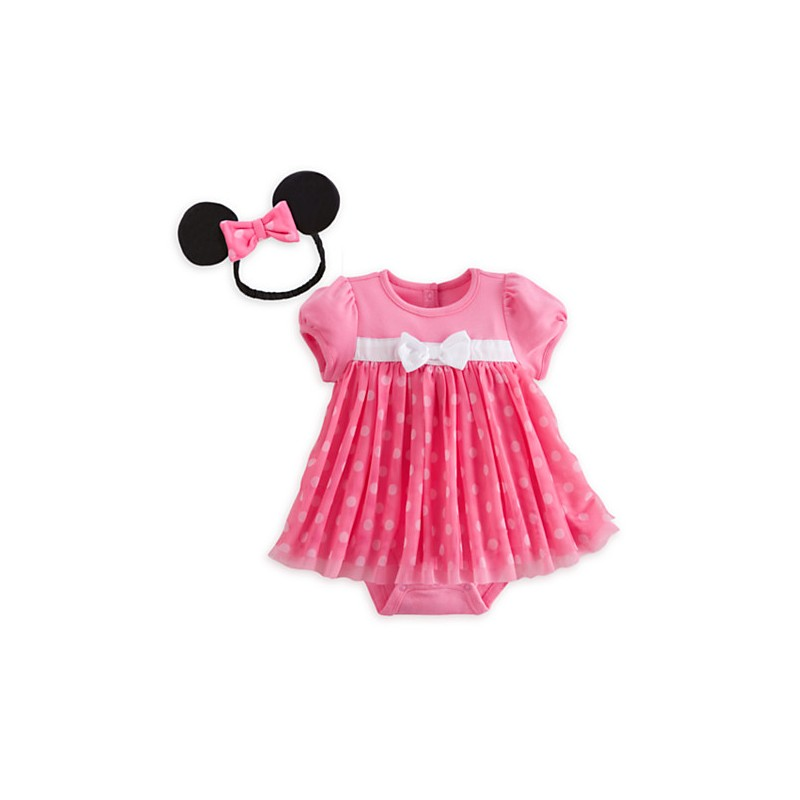 Minnie Mouse Pink Disney Cuddly Bodysuit Costume For Baby
