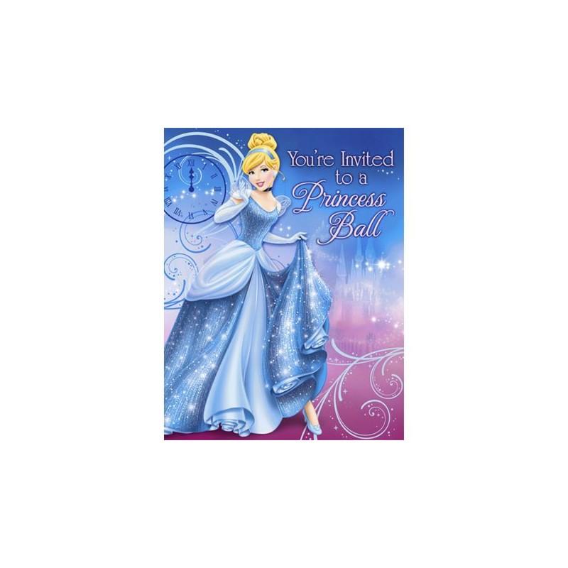 cinderella invitations 8 pack partyland new zealand s birthday