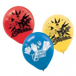 "Avengers Latex Balloons 12"" (6 Pack)"