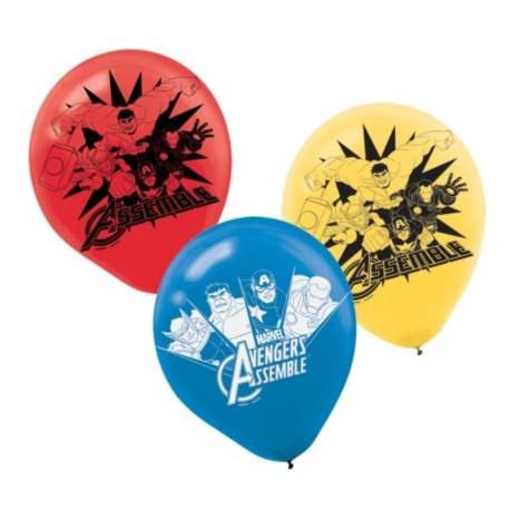 """Avengers Latex Balloons 12"""" (6 Pack)"""