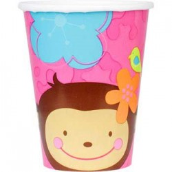 Floral Monkey Cups (8-pack)