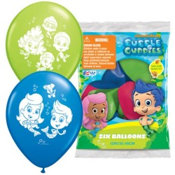 "Bubble Guppies 12"" Latex Balloons (6 Pack)"