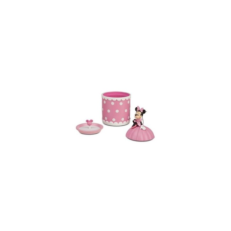 Disney store minnie mouse pink polka dots jewelry box for Minnie mouse jewelry box