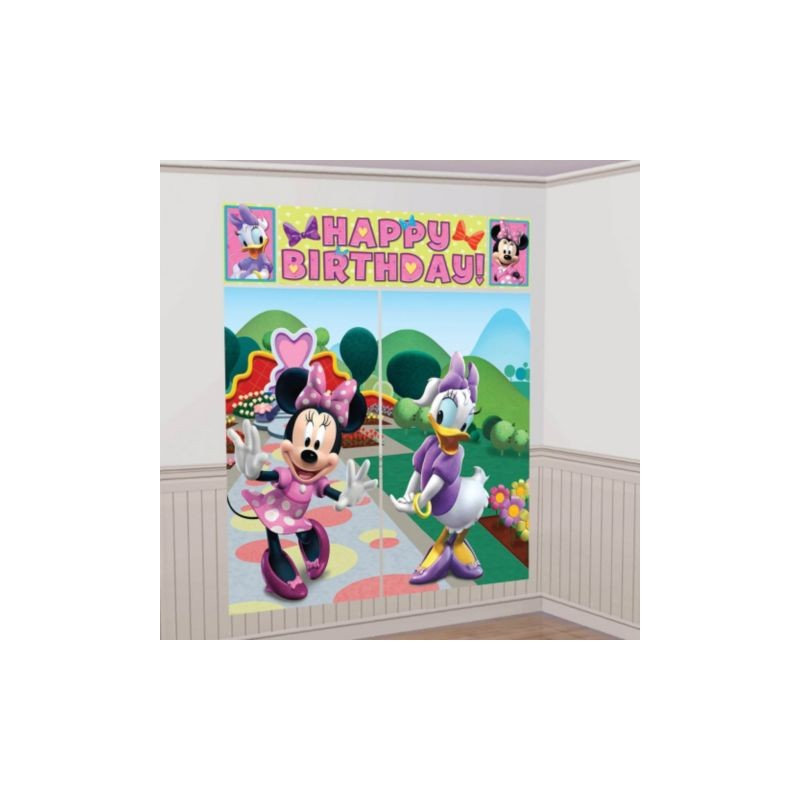 Wall Decoration Kit : Minnie mouse setter wall decorating kit each