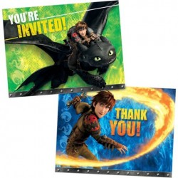 How to Train Your Dragon Invitation/Thank You Set (New Style)