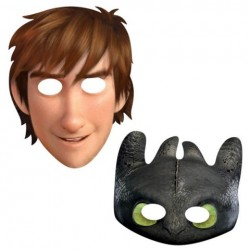 How to Train Your Dragon Paper Masks (8 Pack)