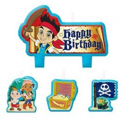 Jake & Neverland Pirates Birthday Candle Set