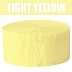 Solid Crepe Streamers (Light Yellow)