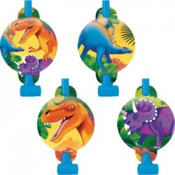 Dinosaur Party Blowers (8-pack)
