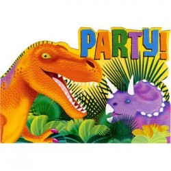 Dinosaur Party Invitations (8-pack)