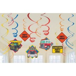 Tonka Swirl Hanging Decorations (12 Pack)