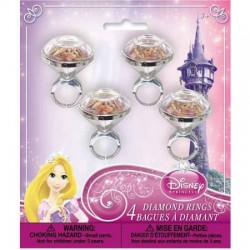 Disney Princess Diamond Rings (4pk)