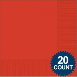 Red 3-Ply Luncheon Napkins, 20 ct.