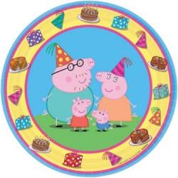 "Peppa Pig 7"" Dessert Plate (8 Pack)"