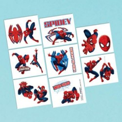 Spiderman Tattoo Favors (16 Pack)
