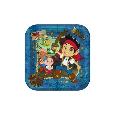 "Jake & Neverland Pirates Plates 9"""
