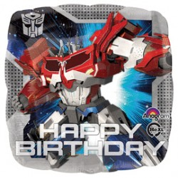 18 IN. TRANSFORMERS ANIMATED HAPPY BIRTHDAY BALLOON