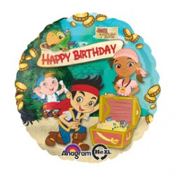 18 IN. JAKE NEVERLAND PIRATES HAPPY BIRTHDAY BALLOON