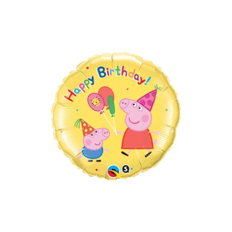 18 IN. PEPPA PIG HAPPY BIRTHDAY BALLOON