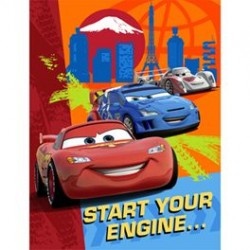 Disney Cars Invites 8pk