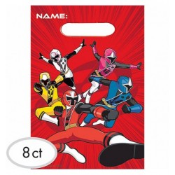 Power Rangers Loot Favour Bags (8 Pack)