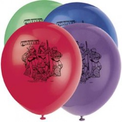 TMNT - Latex Balloons 8 pack