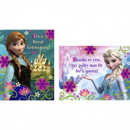 Frozen Invitations Thankyou Cards