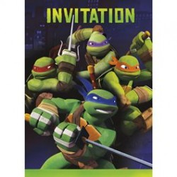 TMNT - Party Invitations and envelopes