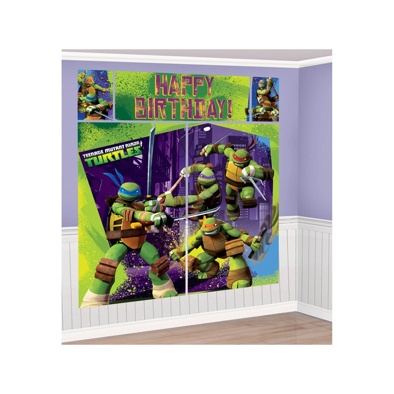 Wall Decoration Kit : Tmnt setter wall decorating kit partyland new