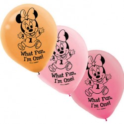 Minnie 1st Birthday 15pack balloons
