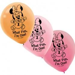 Minnie 1st Birthday 15pack balloons