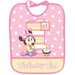 Minnie 1st Birthday Bib