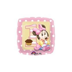 Minnie 1st birthday foil balloon