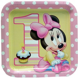 Minnie 1st Birthday dinner plates