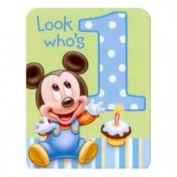 Mickeys 1st Party Invitations