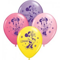 Minnie Mouse 6 pack latex balloons