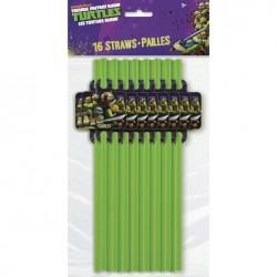 TMNT - 16 Straws