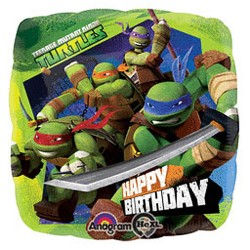 TMNT - Happy Birthday Foil Balloon 18""