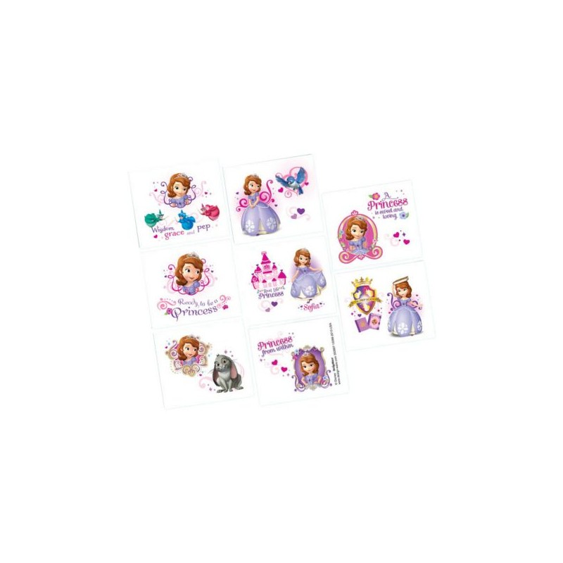 Sofia the first tattoos partyland new zealand 39 s for Sofia the first tattoos