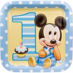 Mickeys 1st Dinner Plates (8 pack)