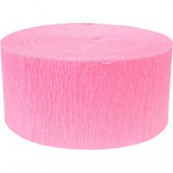 Solid Crepe Streamers (Pink)