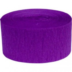 Solid Crepe Streamers (Purple Violet)