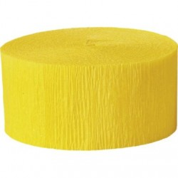 Solid Crepe Streamers ( Yellow)