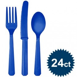 Royal Blue Cutlery Set