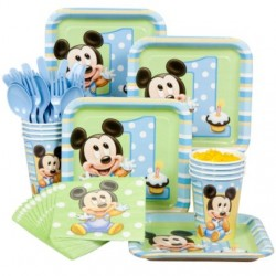 Mickey's 1st Birthday Standard Kit Serves 8 Guests
