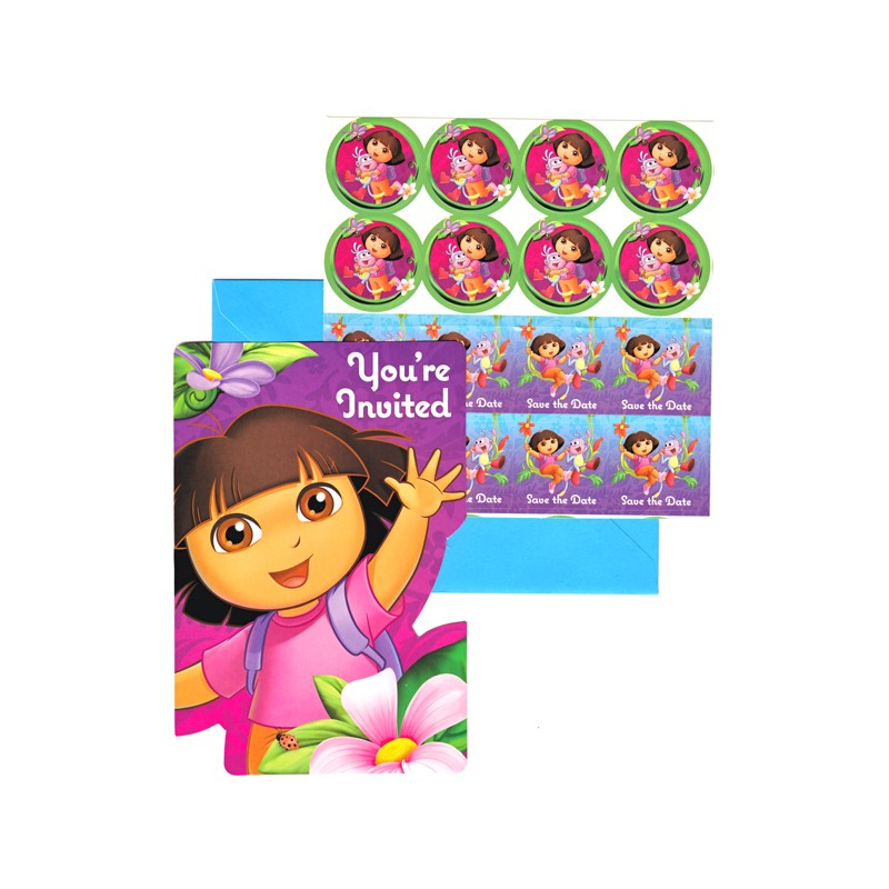 Dora the Explorer Invitations - Partyland - New Zealand\'s Birthday ...