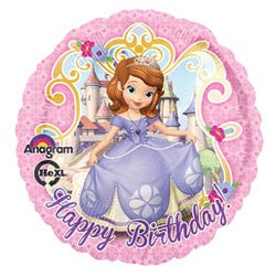 Sofia the First Foil Balloon Pink